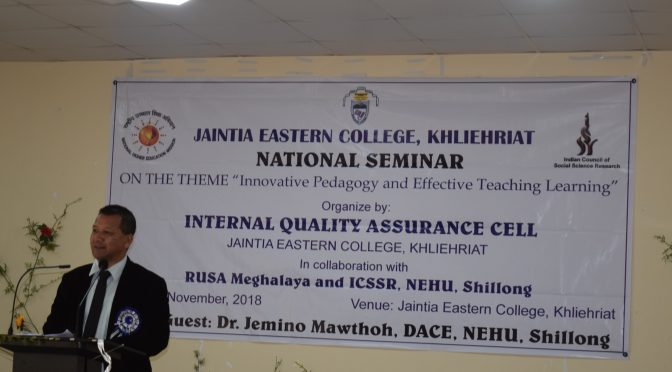 "National Seminar on ""Innovative Pedagogy and Effective Teaching Learning"""